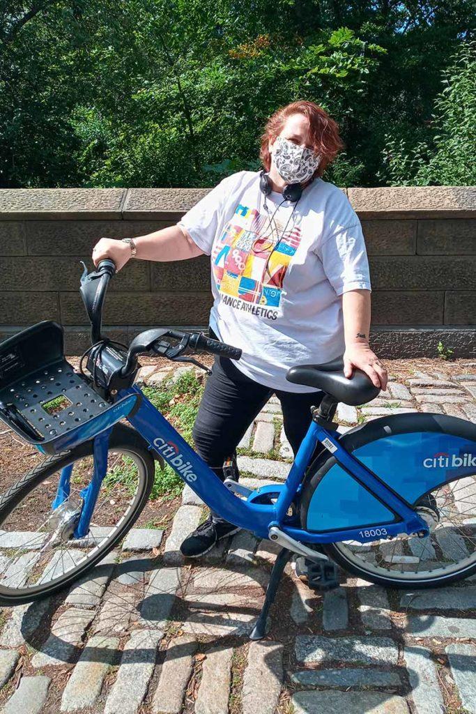 Cathy with bike